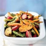 roasted spring veggies