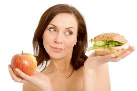 woman choosing healthy food